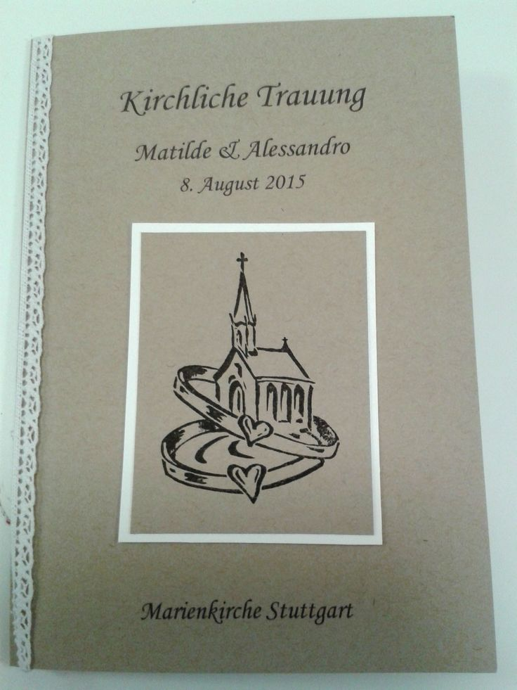 Kirchenheft Hochzeit Vintage Kirchliche Trauung Spitze