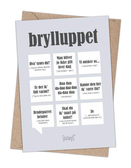 bryllups citater til kort kort til bryllup med sjove citater fra dialaegt | Dialægt | Haha  bryllups citater til kort