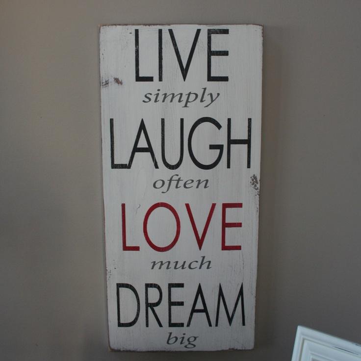 Live Laugh Love Dream