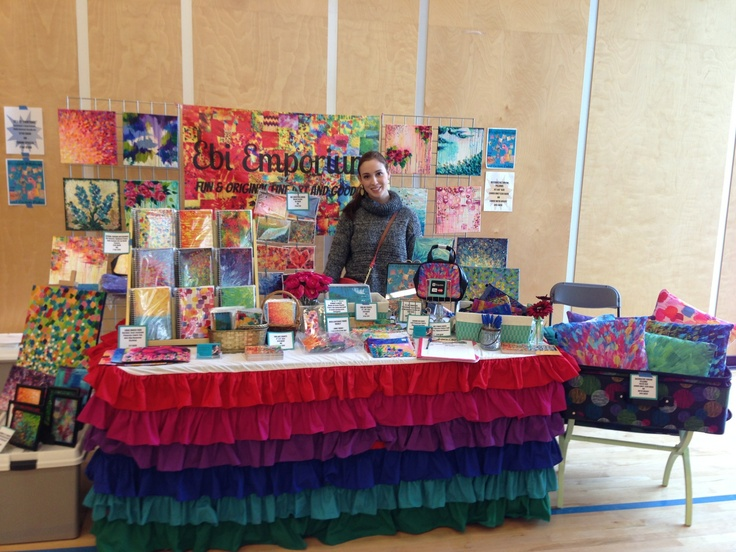 Ebi Emporium at #PortobelloWest Spring Craft Show 2013, #Vancouver BC Canada #shop local #livelocal #artsandcrafts #craftdisplay #craftshow #craftbooth #boothdisplay #Canadian #fineart #abstractpainting #VancouverArtist #colorful #rainbowcolors #craftshowideas #funideas #JuliaDiSano #whimsicalart #artdisplay #artbooth #artshow