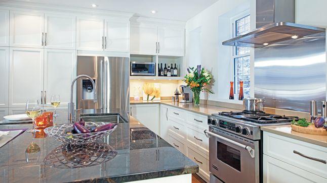 Une cuisine blanc et r glisse deco cuisine and deco cuisine for S cuisine deco