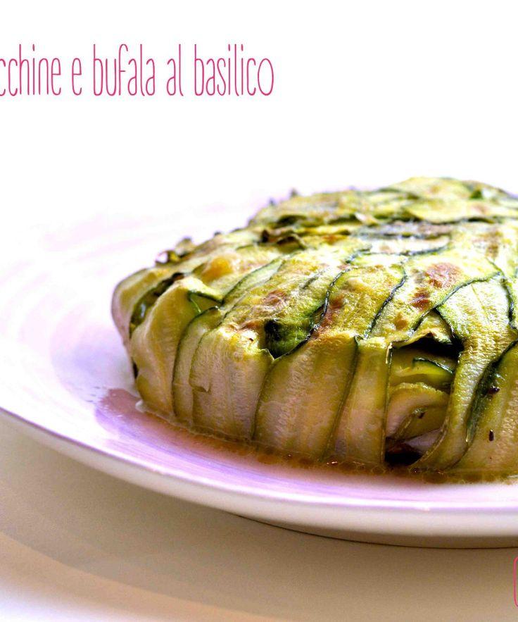 Millefoglie di zucchine, fiori di zucca e mozzarella di bufala al basilico