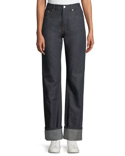 bec24490cd Helmut Lang Re-Edition Turn-Up Straight-Leg Jeans | FAV All Things ...