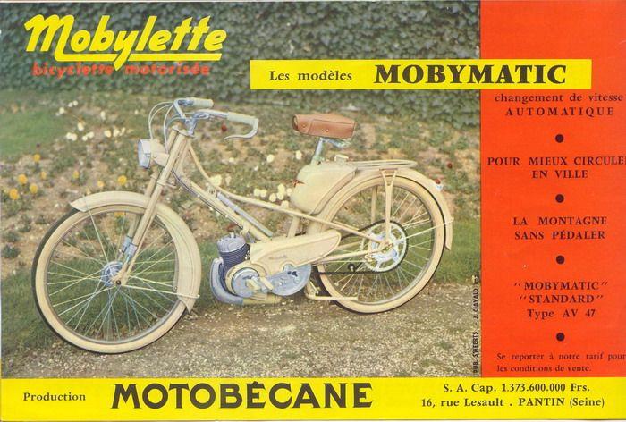 Motobecane mobylette pinterest for Garage pantin citroen