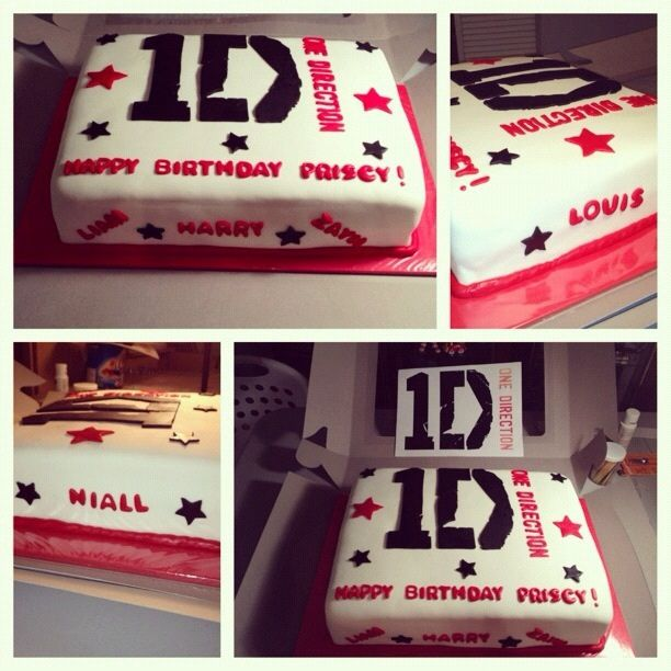 One Direction Cake by Tiffany's Treats, via Flickr