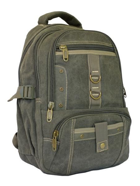 Army Green Vintage School Laptop Backpack - Serbags - 3  acab3c27bf160