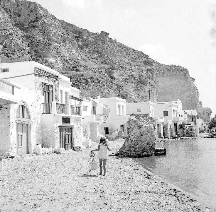 #Milos island, #Greece, 1970 by Zacharias Stellas  #black #white