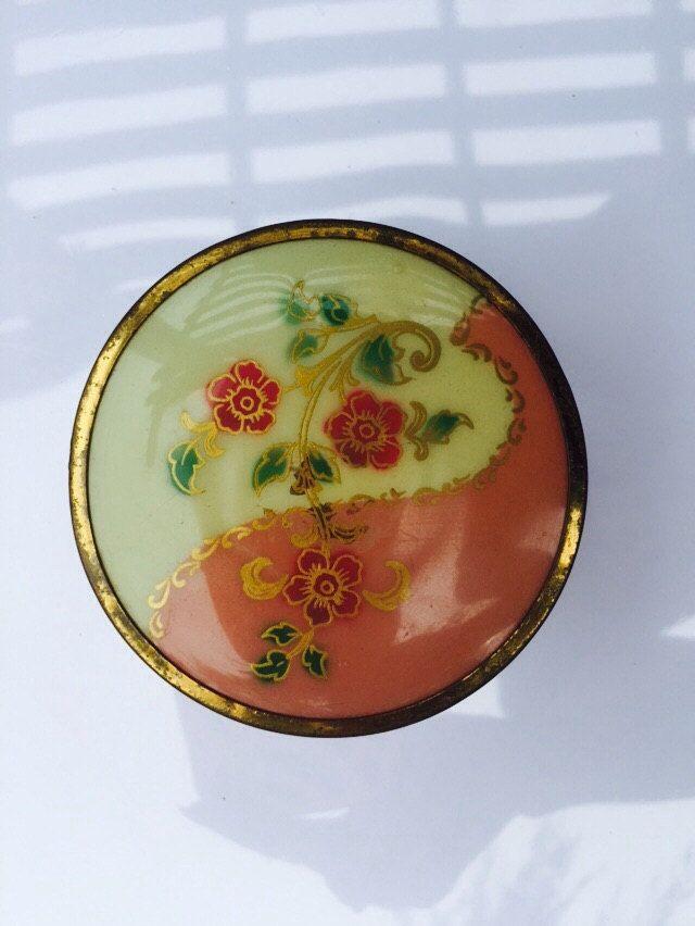 Vintage Art Deco Trinkets Round Box by VintageVixens1 on Etsy