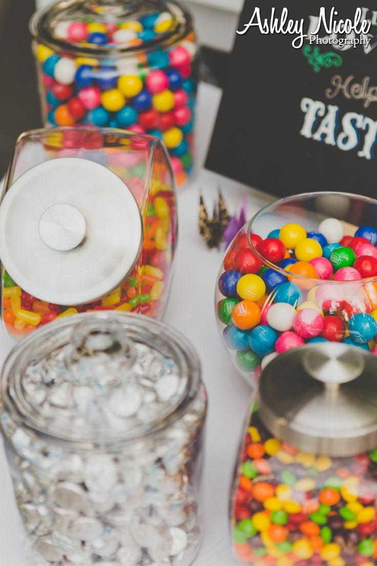 Rustic Wedding Treats- Popcorn and candy bar
