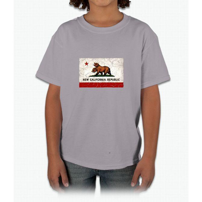 New California Republic Flag Young T-Shirt