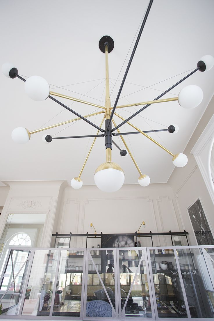 Our Chandelier 'CBRG 03'. Cabourg residential project. Thank you studio Stiletta to have trusted us. And thank you Ateliers Synapses for the stunning production. .