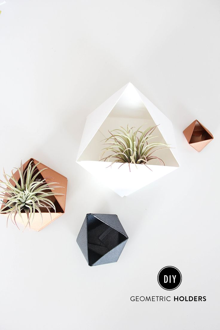 I always see these cute geometric planters at various stores like Anthropologie, and always try to think of ways I can recreate them for less. Well, we have arrived at the solution and all you need is one material - PAPER! Card stock paper to be exact. Prepare yourself, after making these I came up with a zillion other ways to utilize them!  xoxo Alexis of The Shift CreativeCard stock PaperCut 3 squares out of 3 pieces...