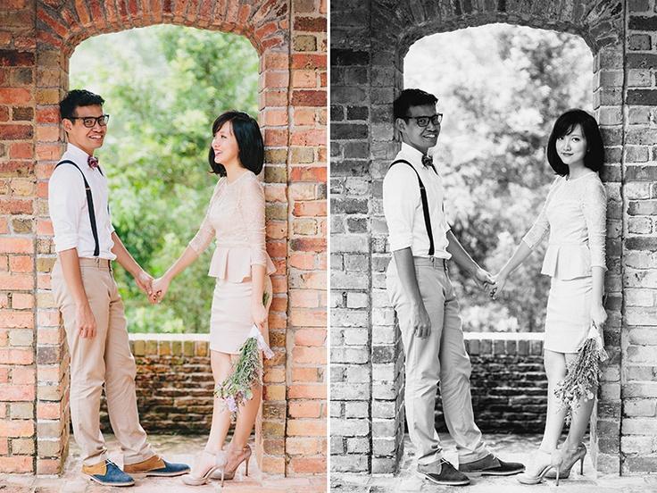 Adib & Mizah. Playing with neutrals and natural backgrounds  #zakariazainal #engagement #prewedding #photoshoot #photography #singapore #outfits #coupleoutfits