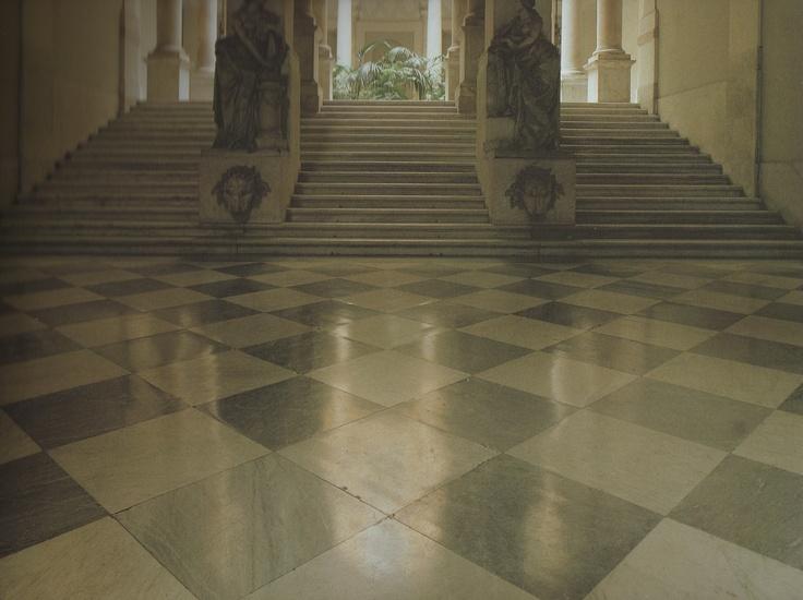 Palazzo Durazzo Pallavicini, Genoa again...nice flooring for the checker board look but not black and white.