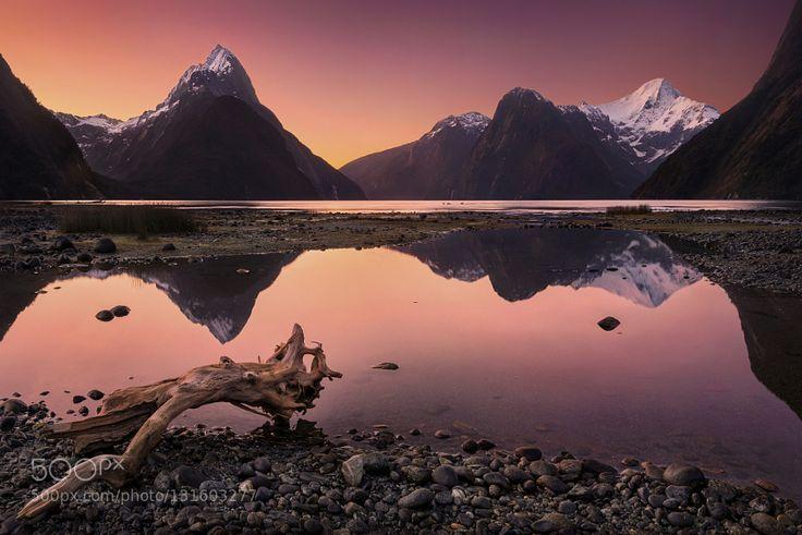 Milford Sound New Zealand by dkphotographyaustralia #landscape #travel