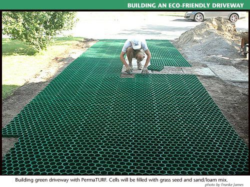 PermaTURF driveway, Franke James Residence | I don't think this plastic option will do for our needs but I have noted it.