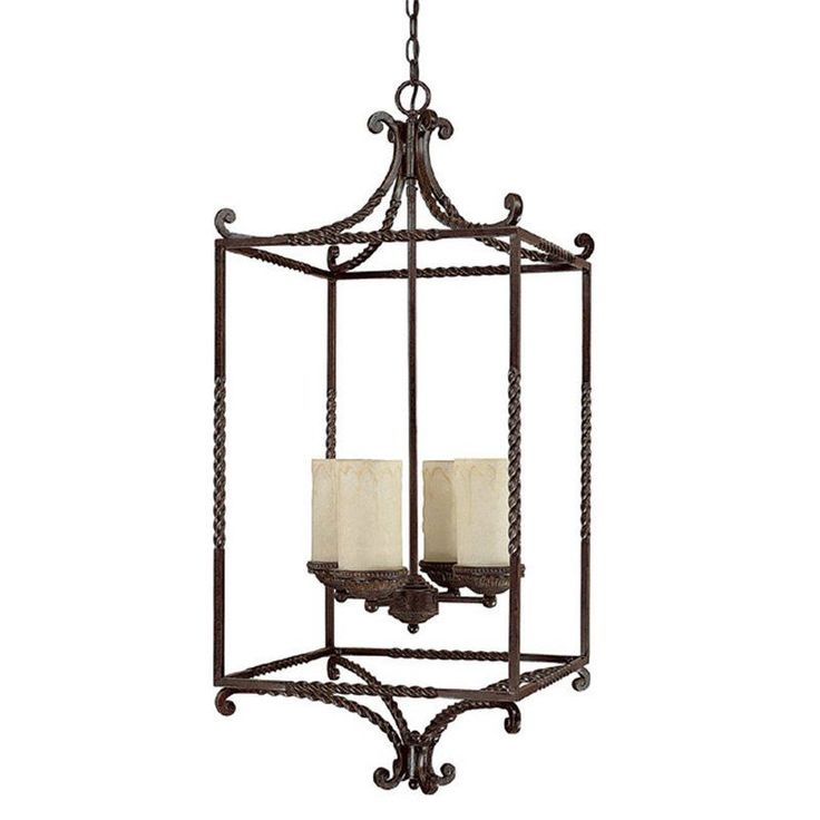 View the Capital Lighting 9225-261 Highlands 4 Light 1 Tier Cage Chandelier at LightingDirect.com.