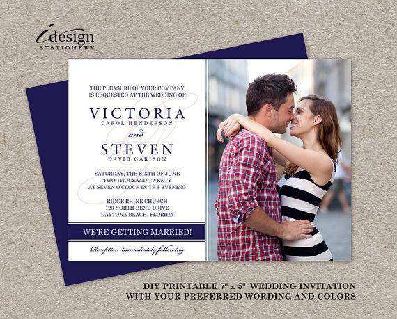 BRICOLAGE Photo mariage invite Photo par iDesignStationery sur Etsy