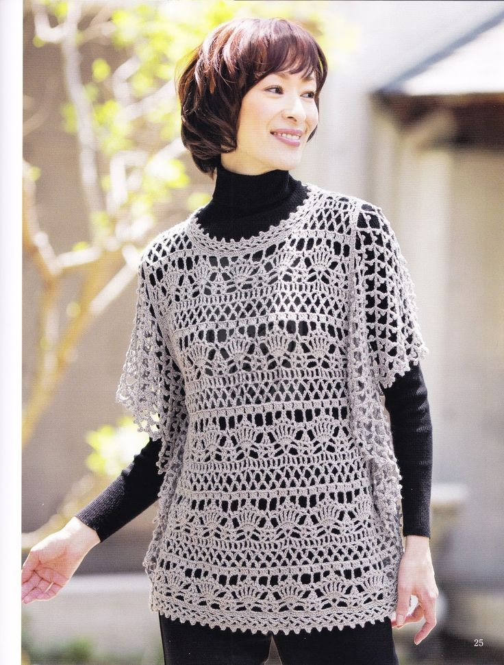 crochet tunic with diagram