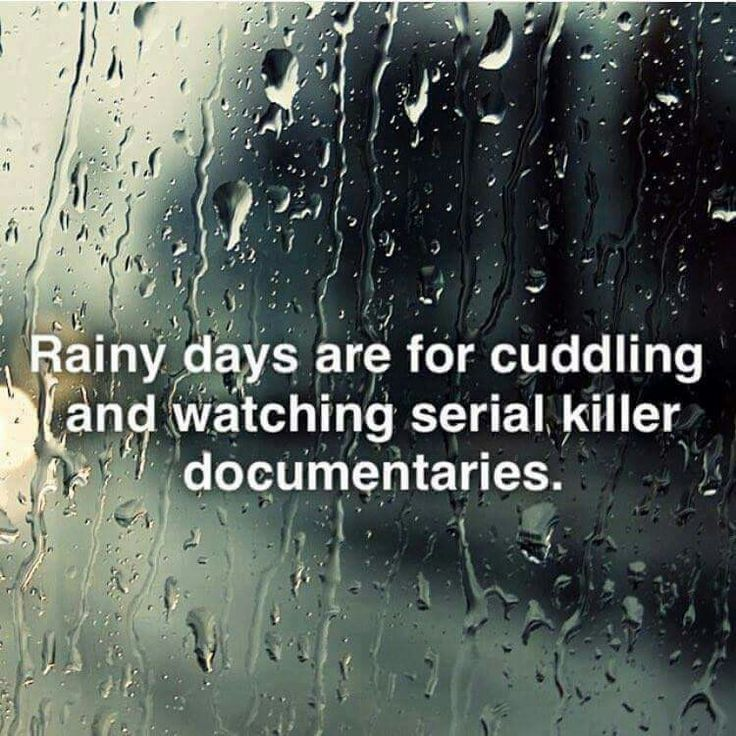 It has done nothing but rain here and I have all of the documentaries ready to go. Just need a cuddle buddy.