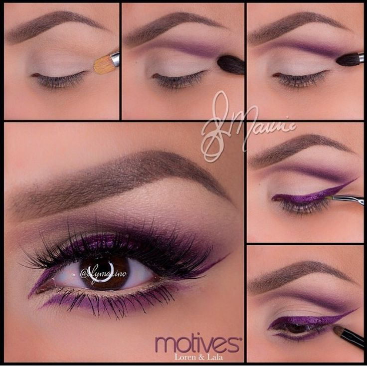 Purple cut crease eye tutorial