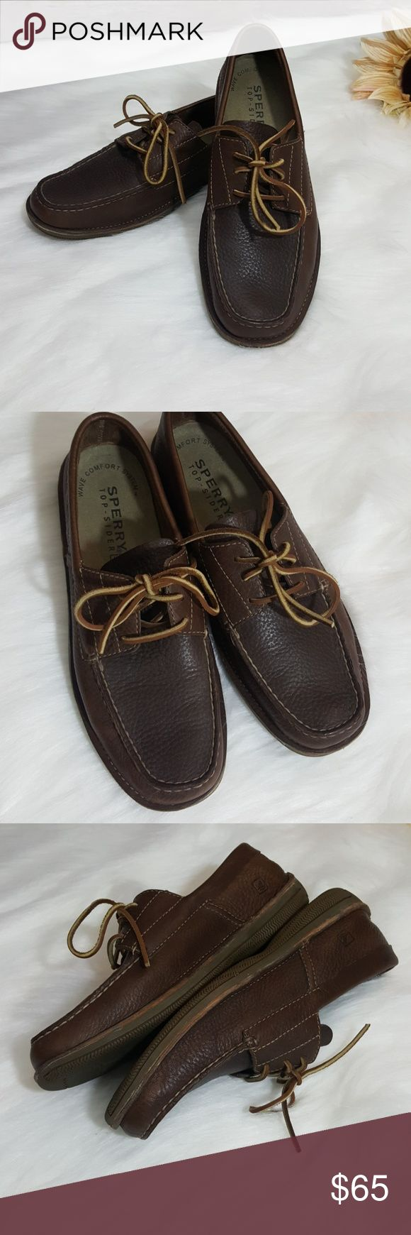 Sperry top siders men's loafers Sperry top siders men's loafers Wave comfort system Size 11 1/2 M Leather uppers  Worn twice - no box Excellent condition #270 Sperry Top-Sider Shoes Loafers & Slip-Ons