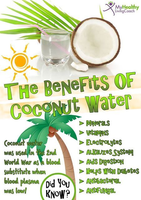 The Benefits of coconut water :)