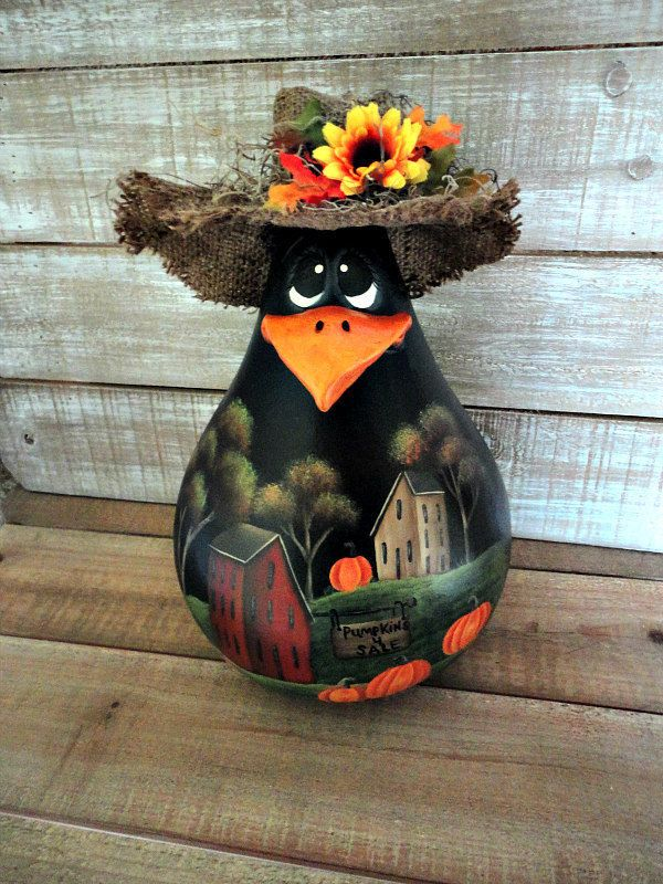 225 Best Painted Gourds Fall Images On Pinterest Gourd
