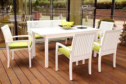 Gartenstühle holz weiß  Billig weiße holz gartenmöbel | Deutsche Deko | Pinterest ...