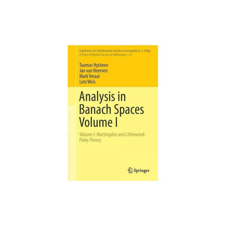 Analysis in Banach Spaces : Martingales and Littlewood-paley Theory (Vol 1) (Hardcover) (Tuomas