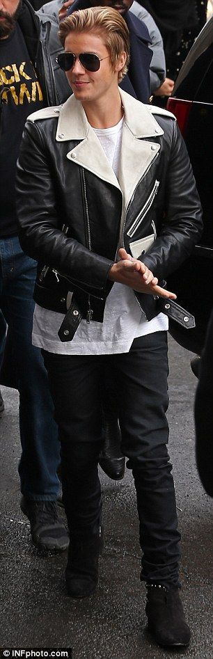 Lovebirds?: Justin Bieber rocked up to the event with rumoured girlfriend Hailey Baldwin...