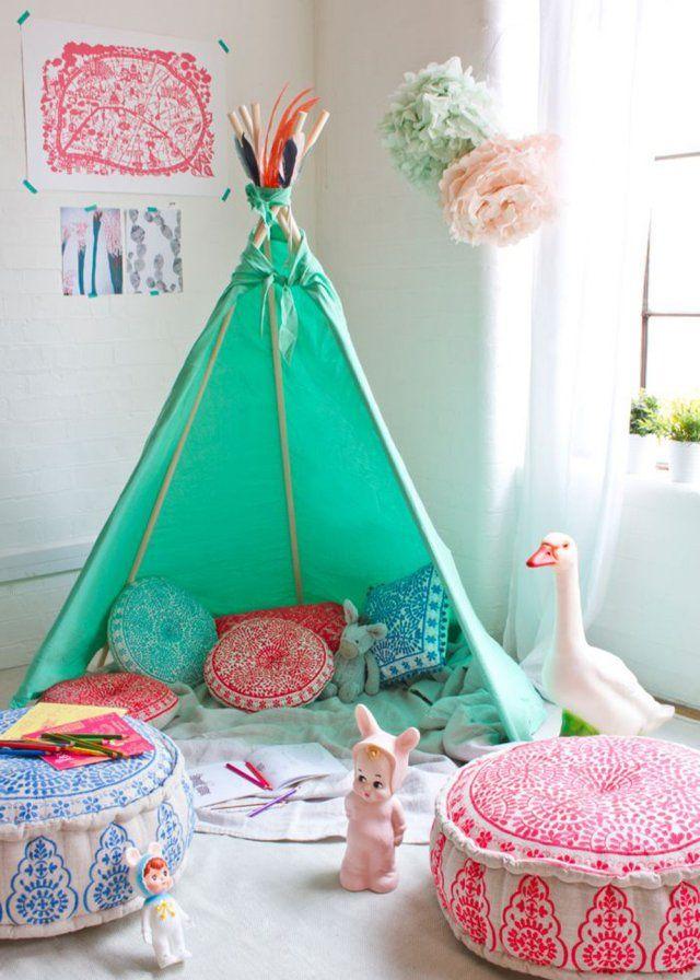 Chambre enfant : le tipi, la nouvelle cabane