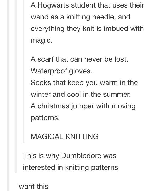 Magical knitting