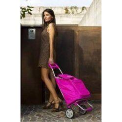 Argo Color nákupní vozík na kolečkách růžová