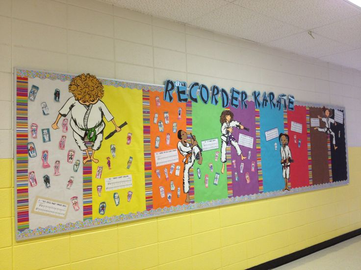 Recorder karate bulletin board