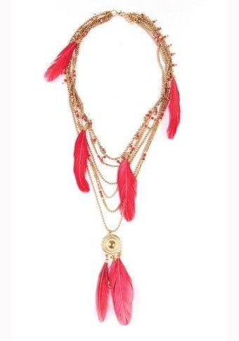 Náhrdelník s pierkami #modino_sk #modino_style #necklace #boho #fashion