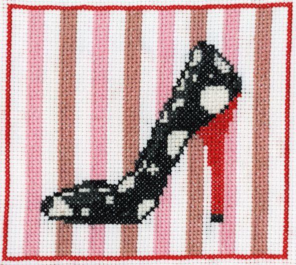 Shoe free cross stitch pattern