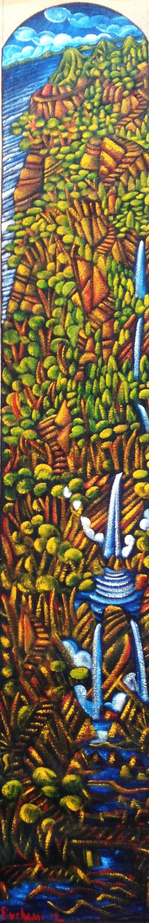 dean buchanan painting of waterfall - Google Search