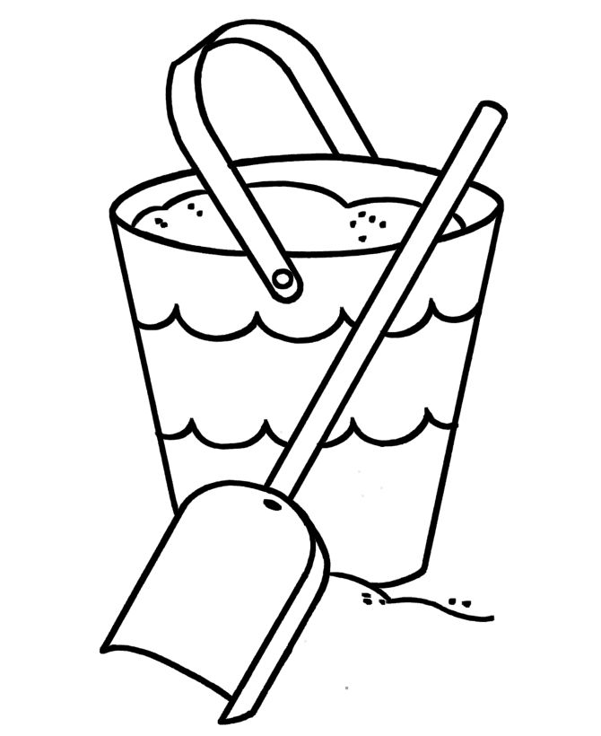 sand buckets coloring pages Print