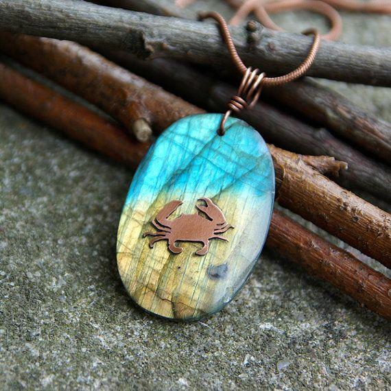 zodiac necklace zodiac jewelry labradorite necklace by Verha