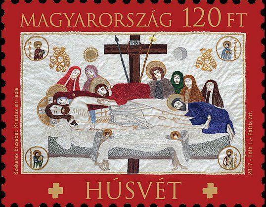 Stamp: Christ's sepulchral shroud (Hungary) (Easter) Mi:HU 5880,Yt:HU 4654