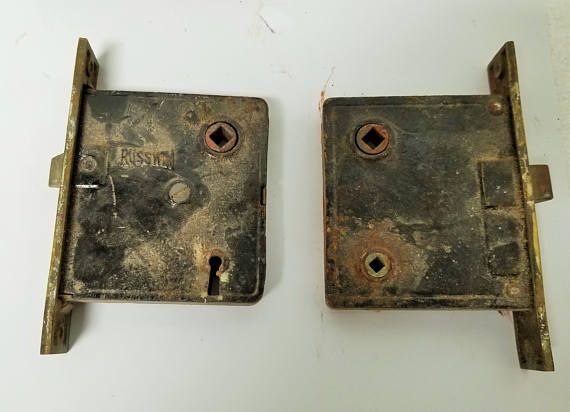 Antique Russwin Mortise Locks Select Privacy Or Keyed Solid Etsy Mortise Lock Antique Hardware Antiques