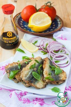 Жареная рыба с зеленью по-мароккански