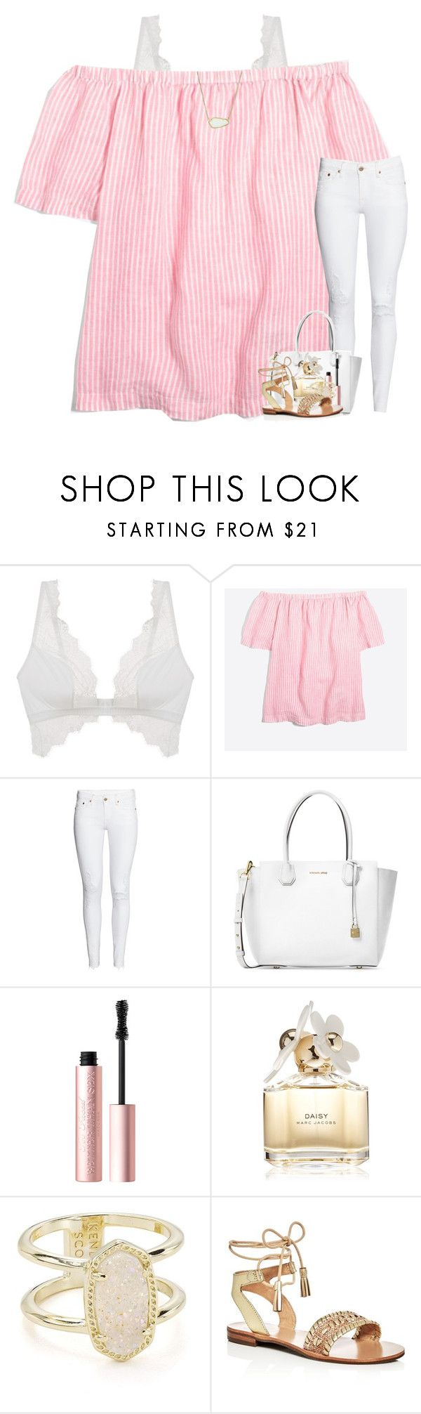 """my dad deployed today "" by preppymilitarybrat ❤ liked on Polyvore featuring Cosabella, J.Crew, Michael Kors, Too Faced Cosmetics, Marc Jacobs, Kendra Scott and Jack Rogers"