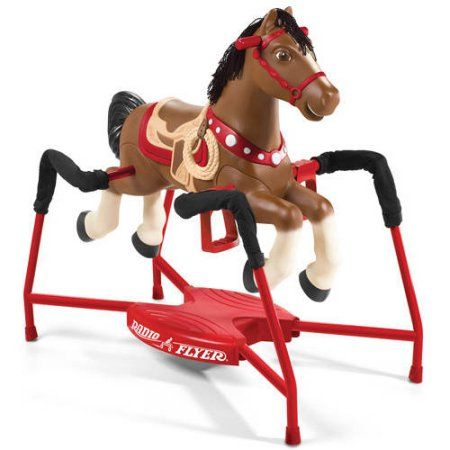 Radio Flyer Blaze Interactive Spring Horse Ride-On - Walmart.com