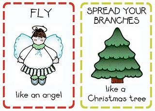 Christmas action cards - Gross Motor
