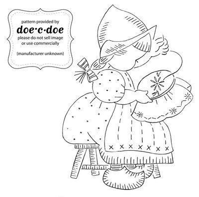 precious little dutch girl: Embroidery, Embroidery Design, Vintage Embroidery Patterns, Vintage Embroidery Girls, Dutch Girls Doing Embroidery, Embroidery Hoop, Sunbonnet, Dutch Girls Do Embroidery, Crafts