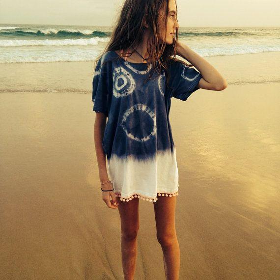 TieDye TShirt Dress by Waterlemonthelabel on Etsy, $23.00