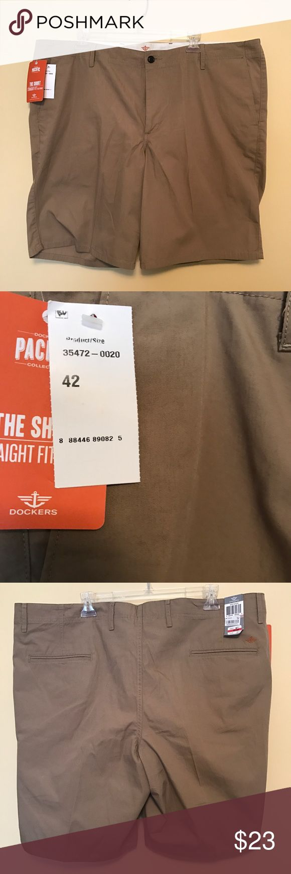 Docker men's dress shorts Tan dress shorts NWT Dockers Shorts