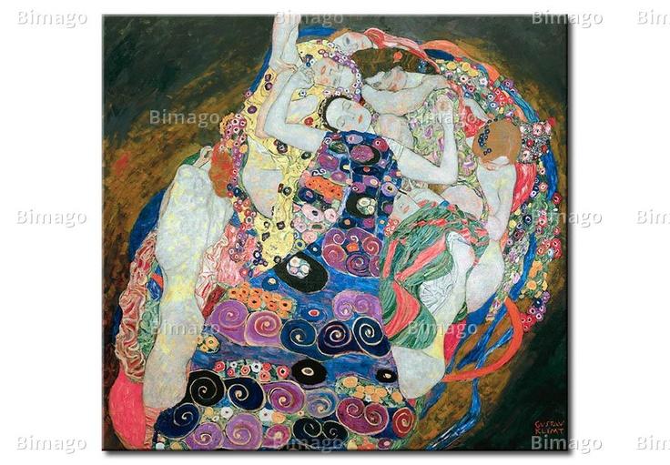 La vergine - Gustav Klimt (quadri famosi su tela// famous painting on canvas)